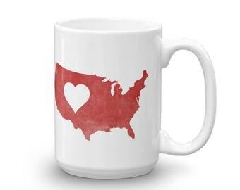 Heart 4 America Mug