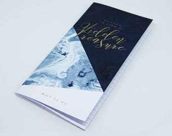 Blue notebook for bible journaling and sermon notes - Hidden Treasure Christian HT003