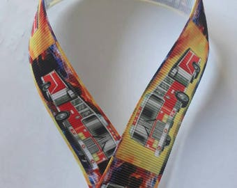 305 - Fireman - grosgrain Ribbon - 25 mm sold by 50 CM - Fireman ribbon