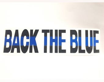 Back the Blue reflective decal