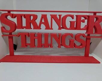 3D printed Stranger Things logo!