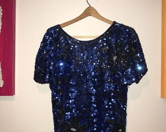 Dacin' on my own - sequined 80's top