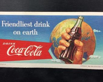 Vintage Coca Cola Blotters