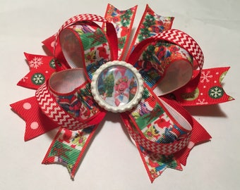 Trolls christmas stacked hair bow
