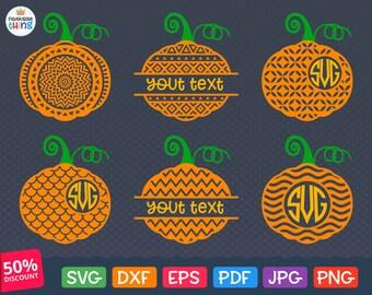 50% OFF, Pumpkin Frames SVG, Pumpkin Monogram Svg, Pumpkin Split Monogram Svg, Halloween svg, Pumpkin Svg, Dxf, Eps, Png files, Silhouette