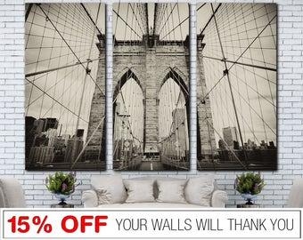 Brooklyn Bridge, Bridge Canvas, Bridge Wall Art, Brooklyn, Bridge Print, Brooklyn Canvas, Brooklyn Print, Cityscape Canvas, Canvas Print