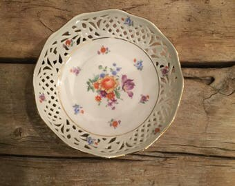 Vintage Bavarian Dish |Shabby Chic Decor|French Cottage Decor