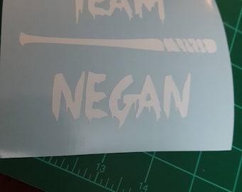 Team Negan--The Walking Dead decal