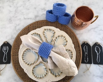 Hand Knitted Napkins Rings