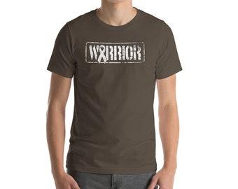 Lung Cancer - Lung Cancer Ribbon - Lung Cancer Shirt - Cancer Awareness - Cancer Survivor -  Cancer Warrior - Military - Veteran - T-Shirt