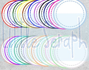 Circles clip art with white background