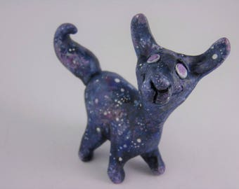 Niffy the galaxy lama figurine - collector's item - ooak sculpture