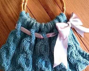 Handmade Knitted cable Handbag