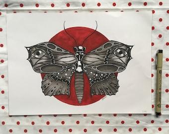 BUTTERFLY illustration print
