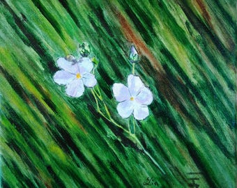 The linen flower