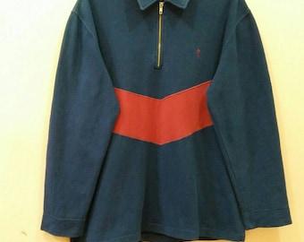 GUESS Sweatshirt jumper pullover spellout half zipper large size