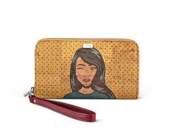 "Cork Wallet ""pop art"" made in Portugal"