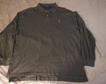 Vintage Style Polo Ralph Lauren Long Sleeve Polo