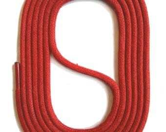 SNORS - laces - round LACES natural red, 3 lengths, diameter approx. 2-3 mm
