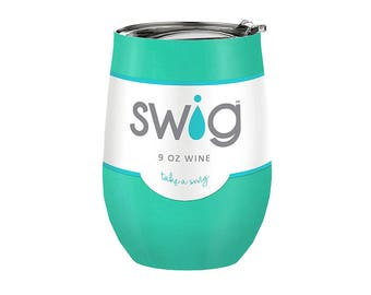 Swig Insulated Wine Cup - Turquoise