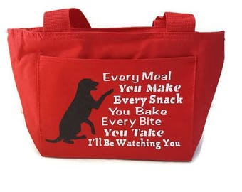 Dog Lunch Bag / Lunch Bag for Women / Dog Lover Bag / Gifts for Her / Women's Lunch Bag / Insulated Lunch Tote / Insulated Bag / Lunch Tote