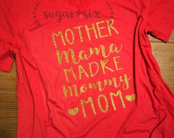 Mother, Mama, Madre, Mommy, Mom Triblend Women's Tee