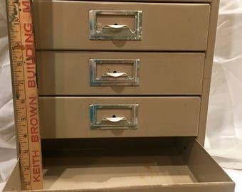 Industrial drawer organizer, Steam Punk, Industrial, Metal Furniture,