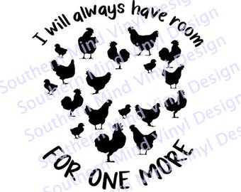 Room for one more SVG Instant Download