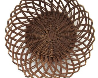 Round Wicker Basket | Vintage Wicker Bread Basket | Wicker Fruit Basket | Storage Basket | Home Organization | Home Decor
