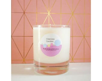 Plum Rose & Patchouli Soy Wax Natural Candle