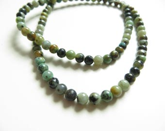 Stone african turquoise 4mm 10 beads