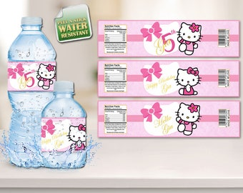 Hello Kitty Water Bottle Labels, Hello Kitty Labels, Hello Kitty, Water Bottle Labels, Labels, Hello Kitty Stickers