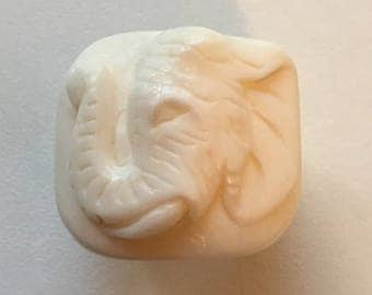 elephant carved buffalo bone ring