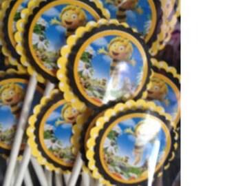 Maya the Bee Cupcake Toppers - Maya the Bee Birthday