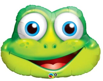 Funny frog foil balloon 32 inch/Birthday party/party decorations/balloon decoration/animal party