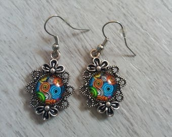 Earrings cabochon earrings