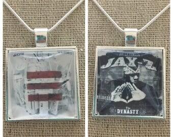 Jay z album cover photo pendant necklace/keychain.Jay z-blueprint album pendant.Jay Z- Dynasty album pendant.Jay Z jewelry.Jay Z keychain