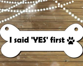 Dog Engagement Sign, Printable Sign