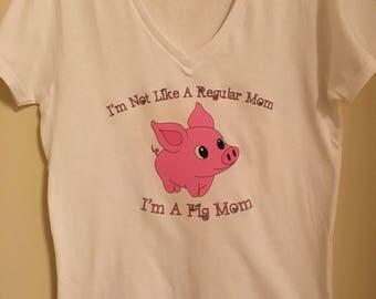 Pig mom tshirt