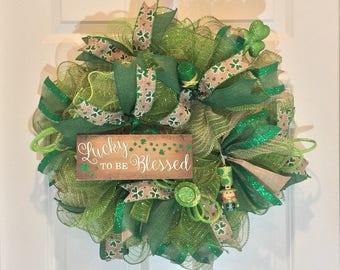 St. Patrick's Day Wreath - St Patrick's Wreath - St Patricks Day Wreath