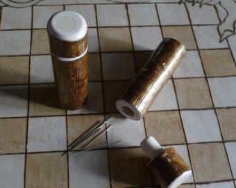needle case - wooden needle case - natural wood needle case - gift for sewers - needle storage