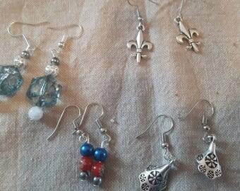 Handmade earrings nickel free.