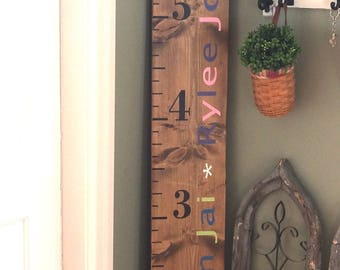 Personalized 6 foot growth chart
