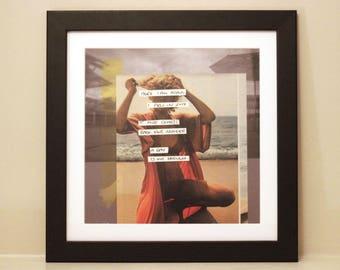 Here I Am Again - Digital Collage Art Print Poster