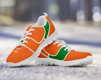 Miami Hurricanes Football Fan Custom Running Shoes/Sneakers/Trainers - Ladies + Mens Sizes fan, collector, gift