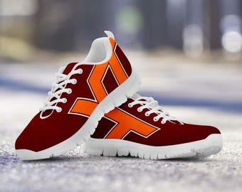Virginia Tech Hokies Football Fan Custom Running Shoes/Sneakers/Trainers - Ladies + Mens Sizes