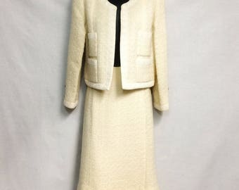 Vintage CHANEL Tweed Skirt Suit