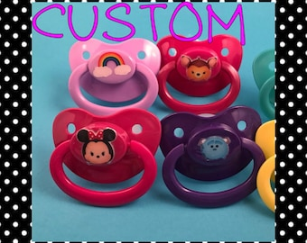STICKER Adult Pacifier, DDLG Pacifier, ABDL Pacifier, Ageplay, Adult Baby