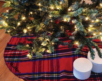 Monogrammed Tweedmill Tree Skirt
