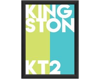 Kingston Typography KT2 - Giclée Art Print - South London Poster